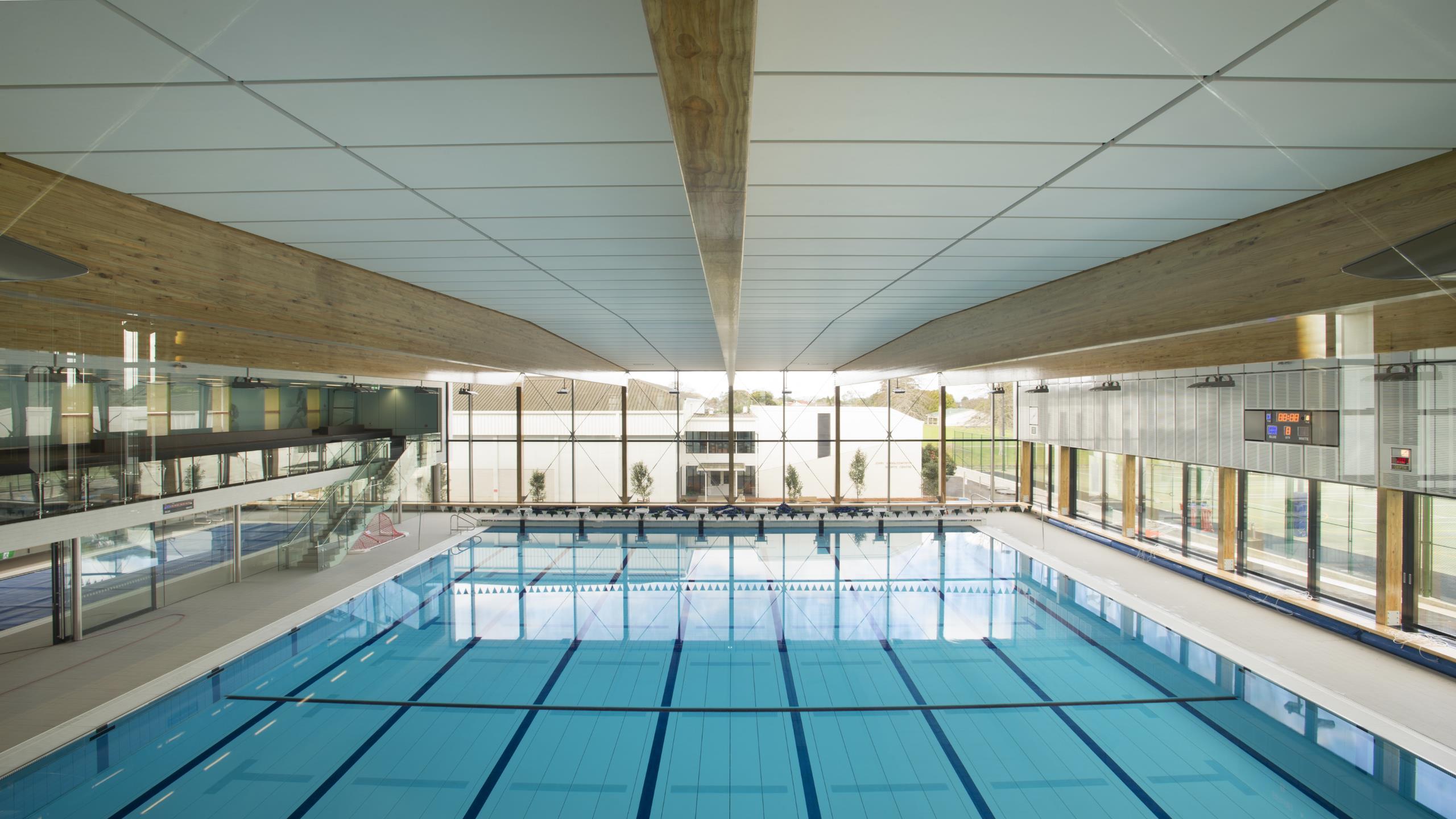 St cuthberts girls college centennial centre case study for Pool design school